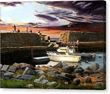 Lanes Cove Gloucester Canvas Print by Eileen Patten Oliver