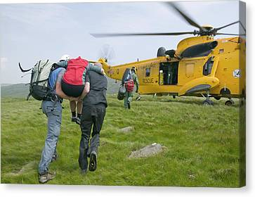 Langdale Ambleside Mountain Rescue Team Canvas Print by Ashley Cooper
