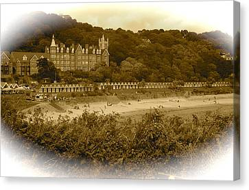 Langland Bay Gower Wales Canvas Print by John Colley