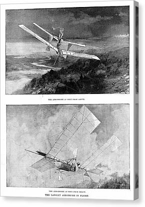 Langley's Steam-powered Model Plane Canvas Print by Universal History Archive/uig