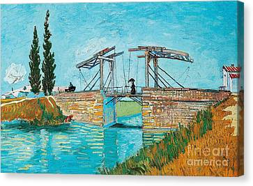 Langlois Bridge At Arles Canvas Print