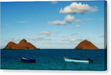 Canvas Print featuring the photograph Lanikai Beach by Caroline Stella