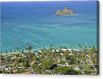 Canvas Print featuring the photograph Lanikai Beach by Gina Savage