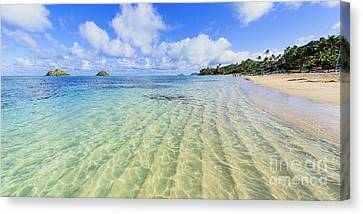 Lanikai Beach Mid Day Ripples In The Sand 2 To 1 Aspect Ratio Canvas Print
