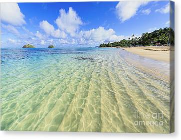 Lanikai Beach Mid Day Ripples In The Sand Canvas Print by Aloha Art