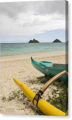 Lanikai Beach Outrigger 2 - Oahu Hawaii Canvas Print by Brian Harig