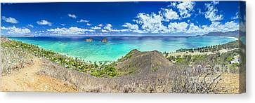 Lanikai Beach Panorama Canvas Print by Aloha Art
