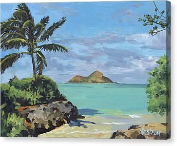 Lanikai Beach Path Canvas Print by Stacy Vosberg
