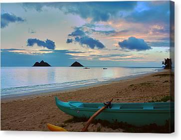 Lanikai Beach Sunrise 6 - Kailua Oahu Hawaii Canvas Print by Brian Harig