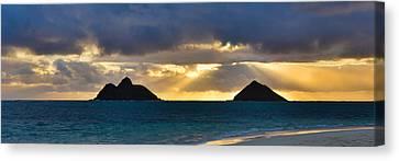 Lanikai Beach Sunrise Panorama 2 - Kailua Oahu Hawaii Canvas Print by Brian Harig