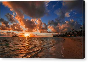 Canvas Print featuring the photograph Lanikai Sunrise by RC Pics