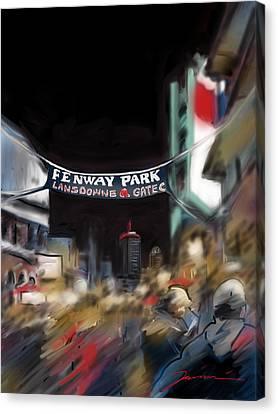 Lansdowne Street Canvas Print by Jean Pacheco Ravinski