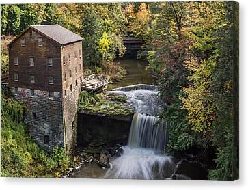 Old Mill Scenes Canvas Print - Lantermans Mill by Dale Kincaid