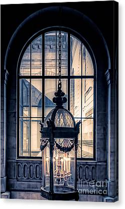 Lantern And Arched Window Canvas Print