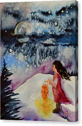 Lantern Festival Canvas Print by Beverley Harper Tinsley