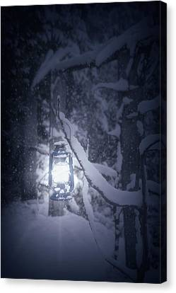 Lantern In Snow Canvas Print by Joana Kruse