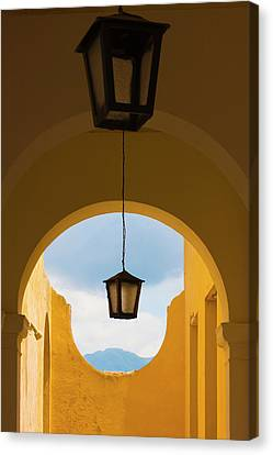 Lantern With Arch Gate, Trinidad Canvas Print
