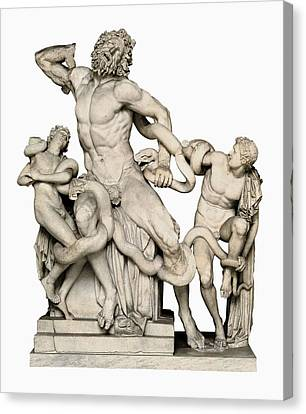 Laocoon With His Sons. 1st C. Bc Canvas Print by Everett