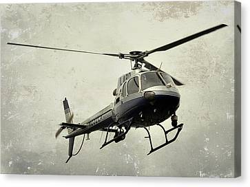 Lapd Helicopter Canvas Print by Fraida Gutovich