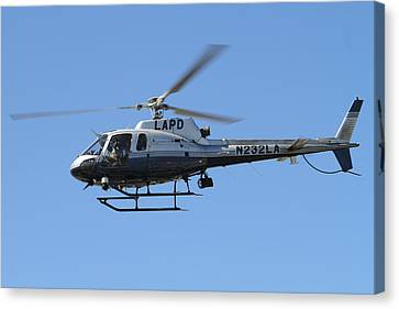Lapd In Flight Canvas Print by Shoal Hollingsworth