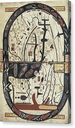 Lapocalypse De Saint Sever. 11th C Canvas Print by Everett