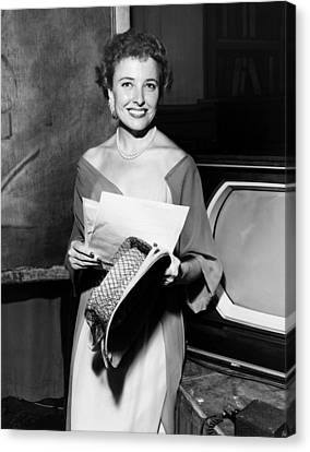 Laraine Day, On The Set Of Her Talk Canvas Print by Everett