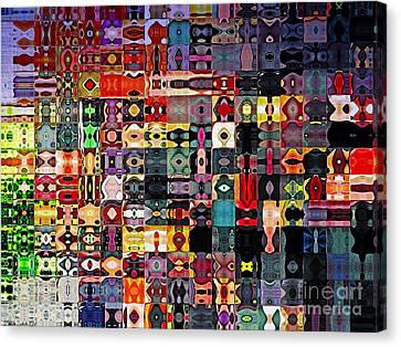 Larg Blocks Digital - Various Colors I Canvas Print by Debbie Portwood