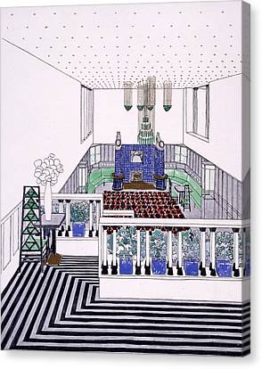Large Balconied Reception Room Canvas Print