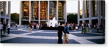 Large Group Of People In Front Canvas Print