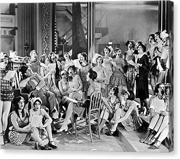 Large Group Of Women Singing Canvas Print by Underwood Archives