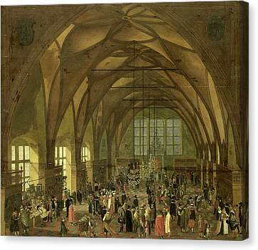 Large Hall In The Prague Hradschin Castle Canvas Print by Litz Collection