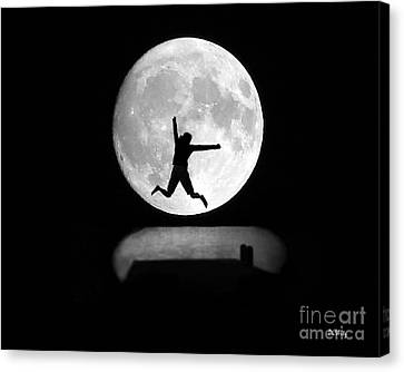 Large Leap For Mankind Canvas Print