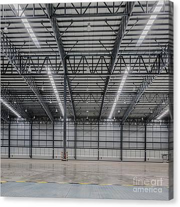 Large Modern Storehouse  Canvas Print by Anek Suwannaphoom