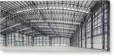 Large Modern Storehouse With Some Goods Canvas Print by Anek Suwannaphoom