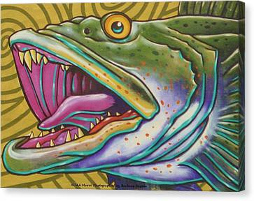 Large Mouth Fish Canvas Print by Unknown