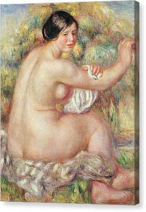 Large Seated Nude Canvas Print by Pierre Auguste Renoir
