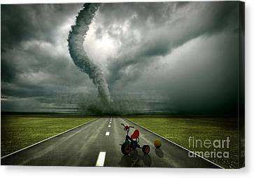 Large Tornado Canvas Print by Boon Mee