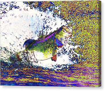 Largemouth Bass P68 Canvas Print by Wingsdomain Art and Photography