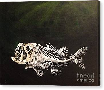 Largemouth Skeleton Canvas Print