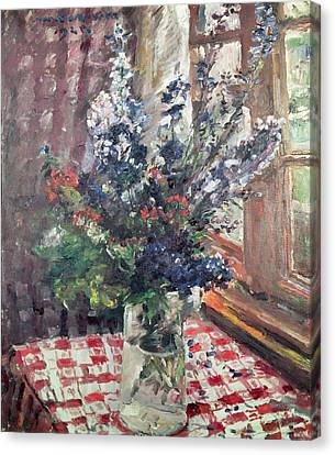 Larkspur Canvas Print by Lovis Corinth