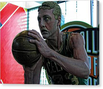 Larry Bird At Hall Of Fame Canvas Print by Mike Martin