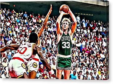 Larry Bird Canvas Print by Florian Rodarte