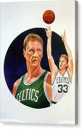 Larry Bird Canvas Print - Larry Bird by Michael Sanseverino