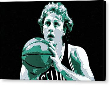 Larry Bird Poster Art Canvas Print by Florian Rodarte