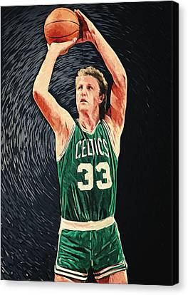 Larry Bird Canvas Print by Taylan Apukovska