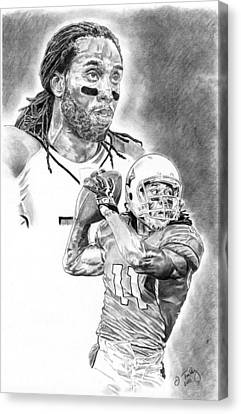 Larry Fitzgerald Canvas Print by Jonathan Tooley