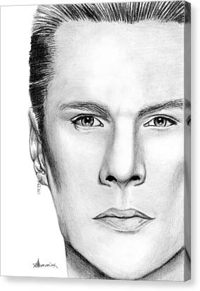 Larry Mullen Jr. Canvas Print by Kayleigh Semeniuk