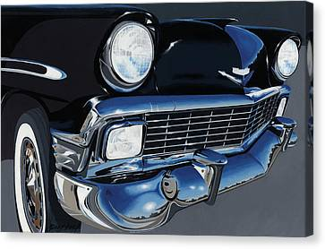 Larry's '56 Bel Aire Canvas Print by John Wyckoff