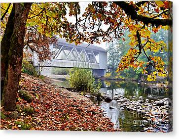 Larwood Covered Bridge Canvas Print