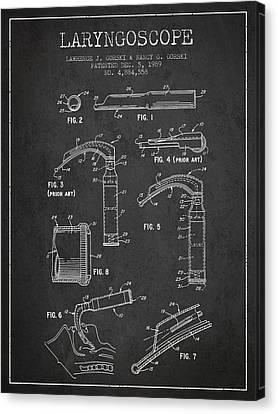 Laryngoscope Patent From 1989 - Dark Canvas Print